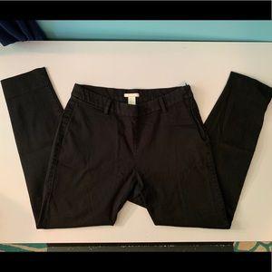 Black ankle slacks with side zipper